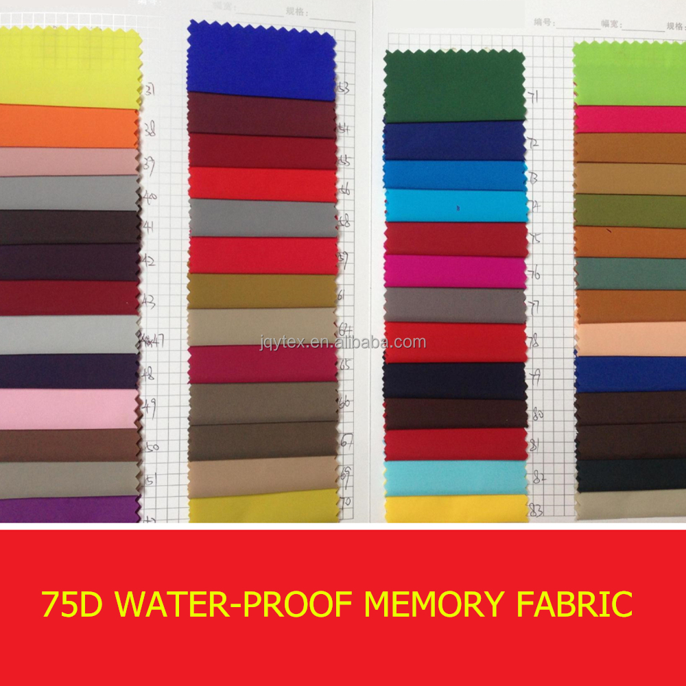 types of jacket fabric material/shape memory fabric/