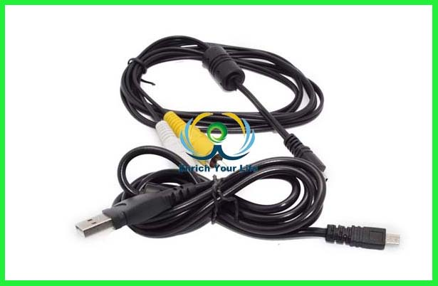 USB Data +AV A/V Audio Video TV Cable/Cord/Lead For Polaroid Digital CAMERA i936