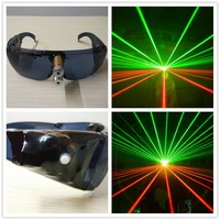 Alibaba High quaility laser glasses with 1pcs green and red laser dancing stage show light DJ CLUB party with inside battery