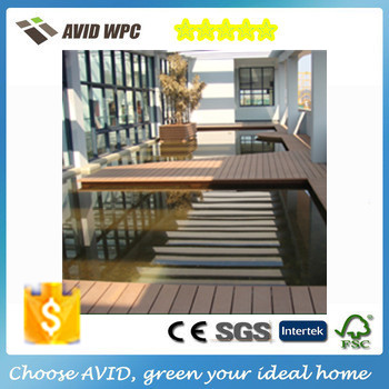 wpc Outdoor Artificial Wood Flooring co-extrusion WPC decking