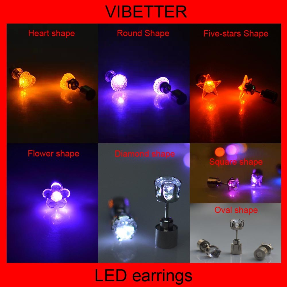 new listed, square shape led earring patent products, exclusive sales bulk hoop earrings