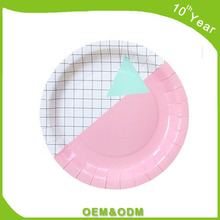High Quality Custom Printed Disposable Paper Plates