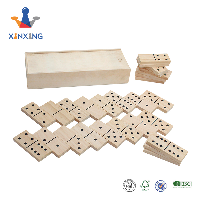 Domino Game Set Double 6 Tile Professional Domino Games Wooden Box