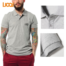High Quality Cheap Blue White Custom Embroidery Logo Men Wholesale Polo T shirt