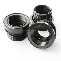 Black anodized aluminum turning parts, milling parts CNC Custom Machining