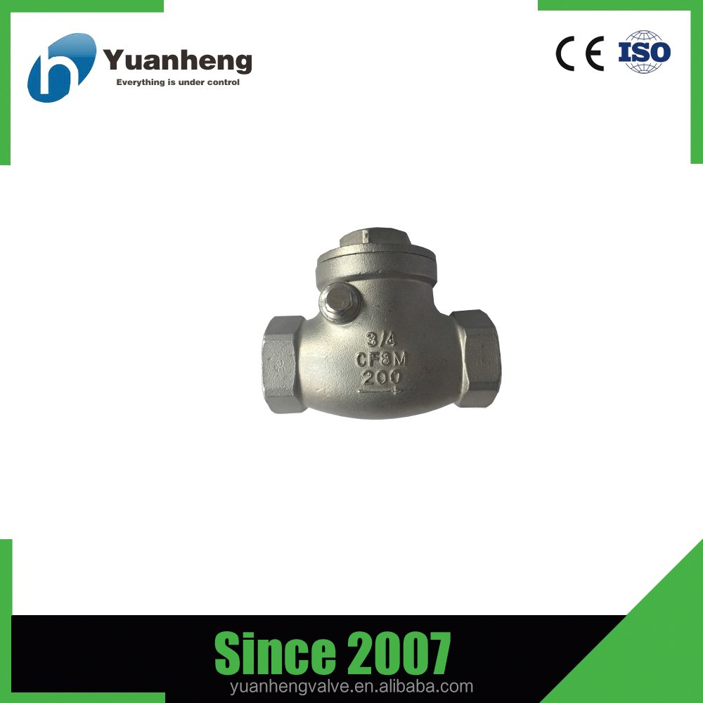 Swing type stainless steel non return check valve