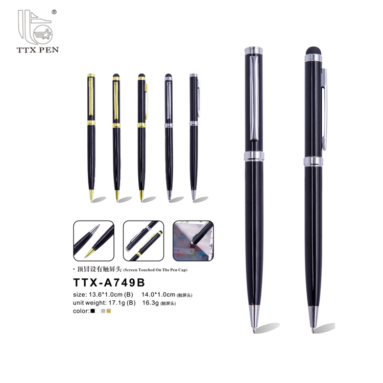 2018 Custom Logo Company Gift Metal Ballpoint Pen From China