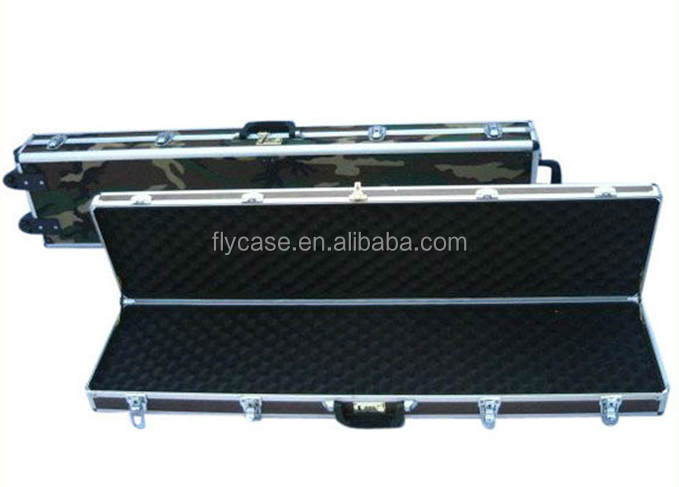 camouflage color aluminum gun case with bullet box aluminum rifle gun case