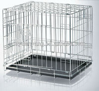 foldable safty strong metal steel bar dog cages with plastic tray