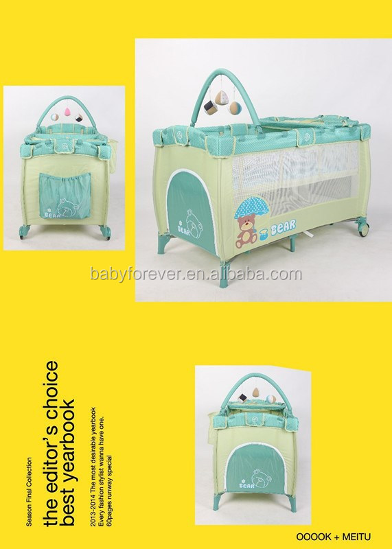 good quality double layer baby cot