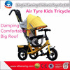 2015 Best Wholesale Websites Air Tyre Four In One Kids Trike Bike With Roof And Handle Bar