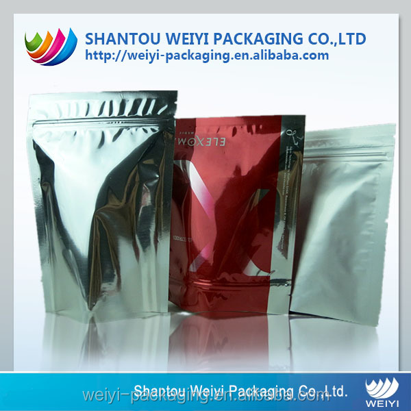 custom printed laminated plastic non woven foil zipper bags wholesale
