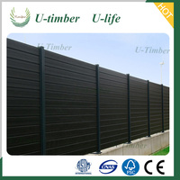 2016 good quality wpc garden fence / wpc composite wood fence / composite wood wpc fence panel