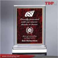 Manufacturer New Design Maroon Marble Print Acrylic Plastic Awards Trophies
