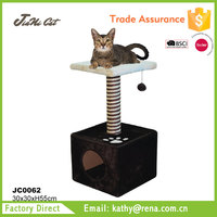 brown with beige color ,hot sale, wooden.for cat houses and scratching post