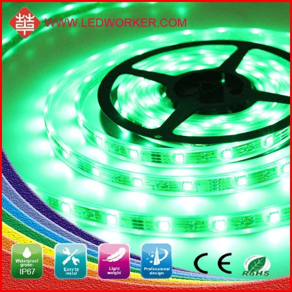 Energy motorcycle lamp lace strips 5050 SMD 300pcs 5M Length led strip light (Non-waterproof), Green color, Blue color available