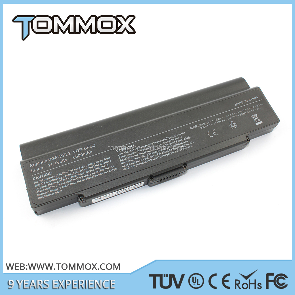 Replacement VGP-BPL2 Laptop Battery for SONY BPL2 Laptop Battery VAIO Notebooks