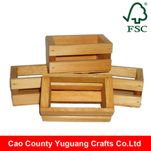 Handicraft wood boxes for fruit vegetables, small wooden gift boxes wholesale