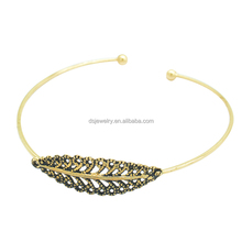 Afghanistan custom gold leaf luxury bracelets for women jewelry