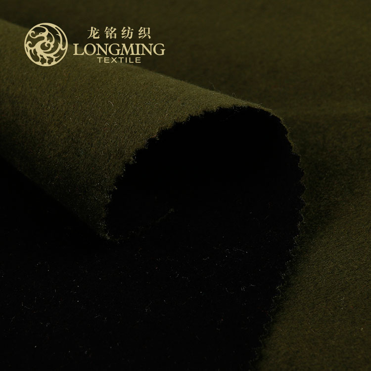 China shaoxing supplier cheap korean men suits wool 100% polyester melton fabric for winter clothes