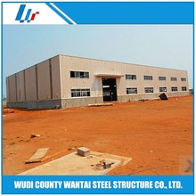 Pre engineered metal steel construction workshop
