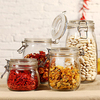Hot selling sealed glass storage jar with metal clip lid top 500ml