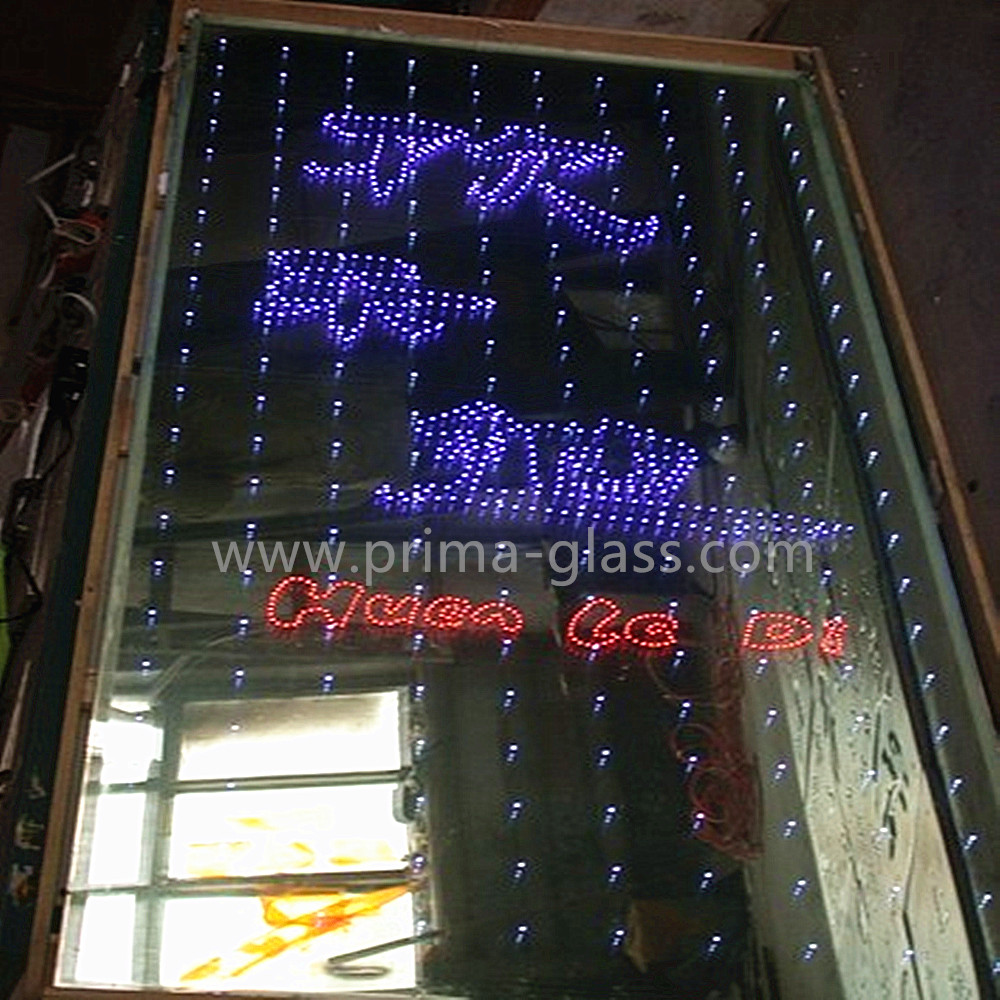 Prima customizing design LED logo glass for advertisement