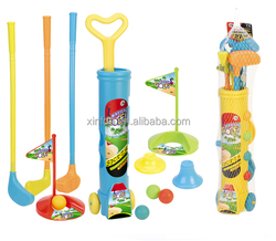 High quality hot selling funny kids plastic toy golf clubs set
