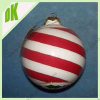 Holiday Decorations ^^ Primitive lambs Symbol of glass ball ^^ small santas handpainted glass christmas balls giants