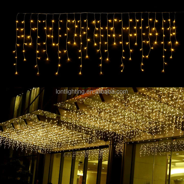 Connectable led color changing curtain string light icicle wall stage/led Christmas light for Wedding home garden party decor