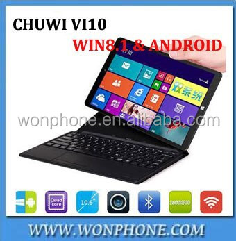 "Chuwi Vi10 tablet Dual OS 2 in 1 PC Tablet Win 8.1 & Android 4.4 Dual Boot 2GB 64GB <strong>10</strong>.6"" Z3736F PC Tablet Computer"