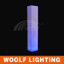 PE Plastic LED Inserted Rechargeable Light Up Pillar