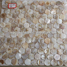 round river shell mosaic with gap