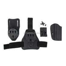 High Quality Gun Holster with Nylon panel for drop leg plate and waist belt