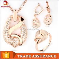 Guangzhou new style handmake light weight rose gold attractive zircon women accessories birthday gift Indian jewellery