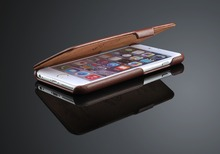 Wholesale flip leather cover mobile phone case for iphone 6 6 plus