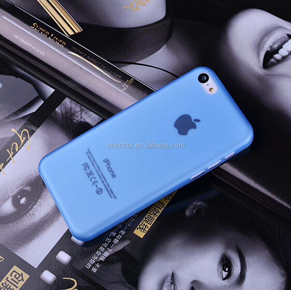 Hot selling wholesale 0.3mm ultra thin PP phone case for iphone 5C