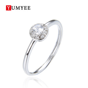 Modern Gold Plated Bridal 925 Sterling Silver Ring