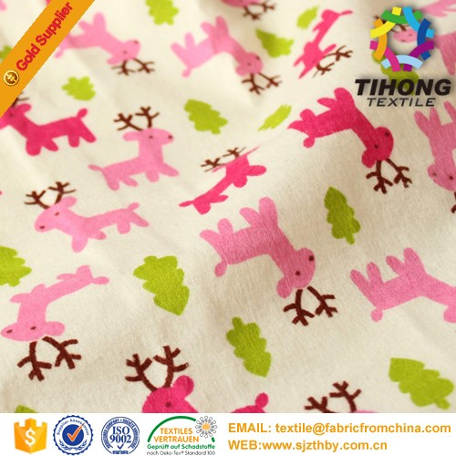 Wholesale cheap price baby flannel stroller fabric in china