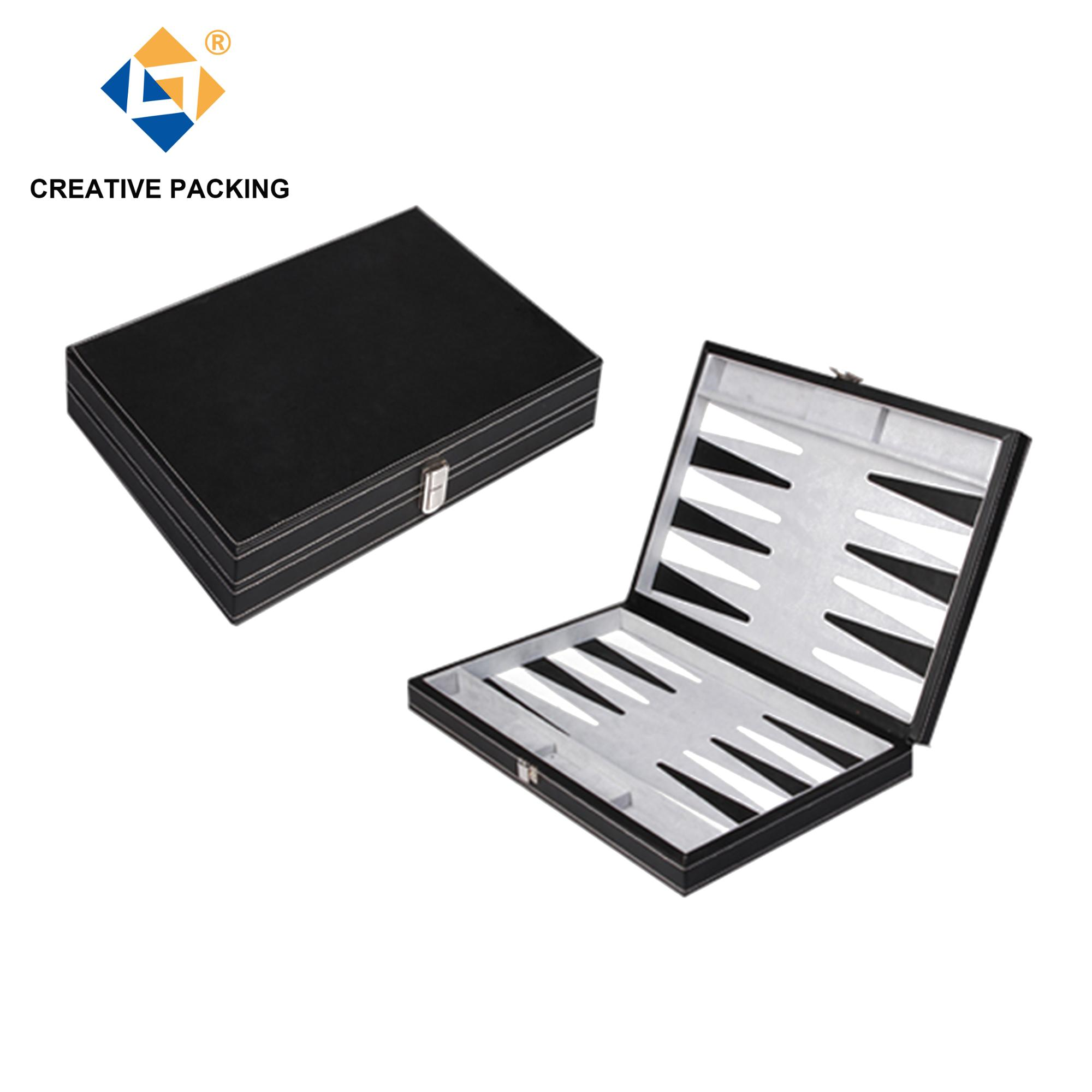 "18"" Vintage Custom PU Leather Backgammon Set"