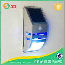 Integrated solar led light garden / All in one stainless steel solar wall light with motion sensor
