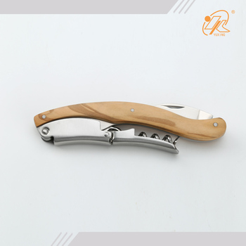 Factory hot sales stainless steel Two stage Sommelier Corkscrew knife made in china