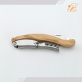 Factory sale olive handle stainless steel kitchen sommelier opener knife