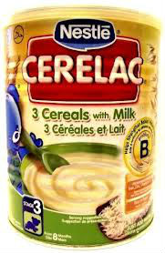 Cerelac baby food 3 Cereals with Milk 400g