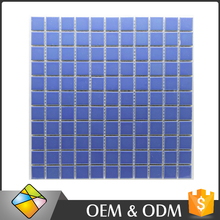 300x300 Hot Sale Popular Pure Blue Ceramic Tile Swimming Pool Mosaic