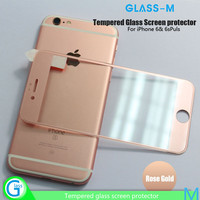 Best selling premium 3D Silicone Border Tempered Screen Glass Protector For iPhone 6s and iPhone 6s Plus with Wholesale Price!