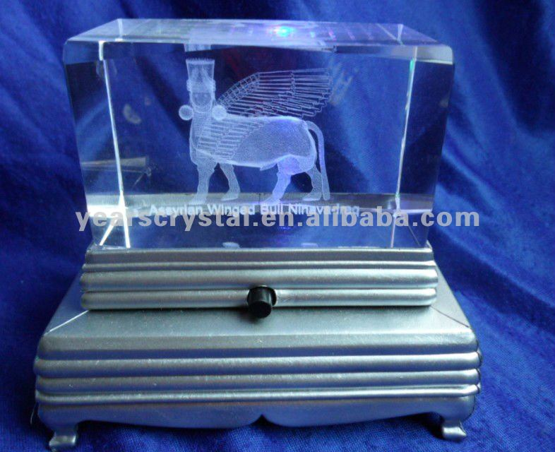 pure 3d laser crystal picture frame for building engraved (R-0066))