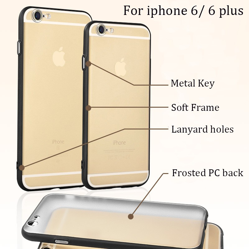 DFIFAN New items white/ transparent back cover case for iphone 6 plus 7 7 + ,pc+tpu style phone cases for iphone 6 6s