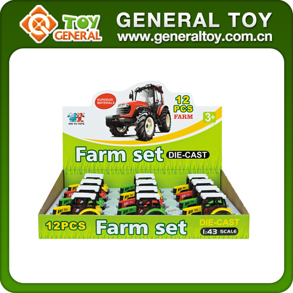 1:43 Mini Tractor Farmer Friction Farmer Tractor Toy