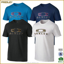 2016 Wholesale High Quality Advertising Custom T-shirt Printing Your Logo 50% Cotton 50% Polyester T shirt